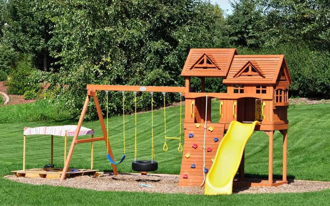 backyard playground perfect for grass mats